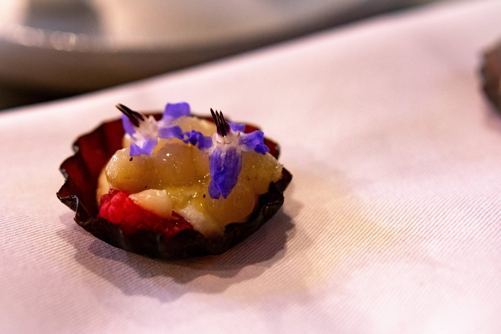 """<img src=""""tartlet.png"""" alt=""""beetroot tartlet at the OCD restaurant in Tel aviv"""">"""